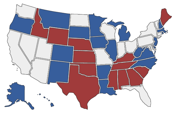 2014 Senate Election Map