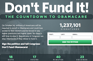 Don't Fund Obamacare