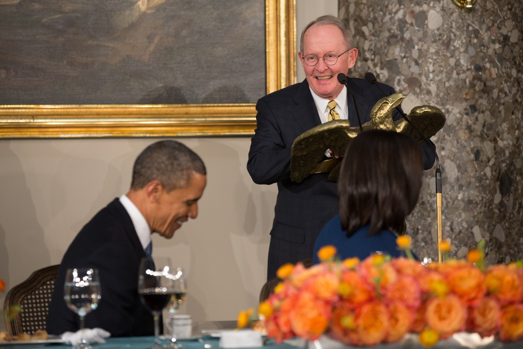 Lamar Alexander and Barack Obama