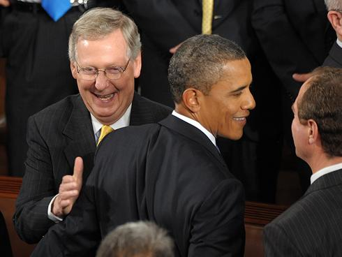 Mitch McConnell and Barack Obama