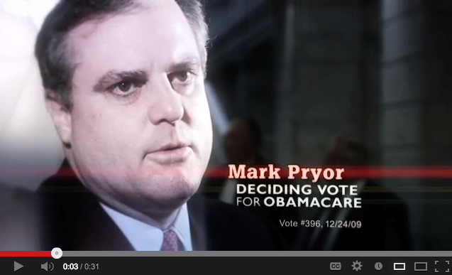 Mark Pryor Cast Deciding Vote for Obamacare