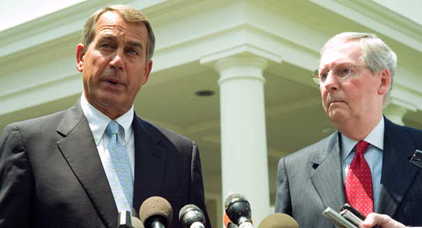 John Boehner (R-OH) and Mitch McConnell (R-KY)