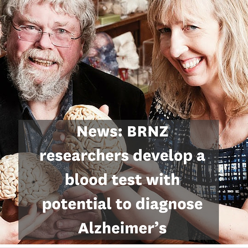 BRNZ researchers develop a blood test with potential to diagnose Alzheimer's