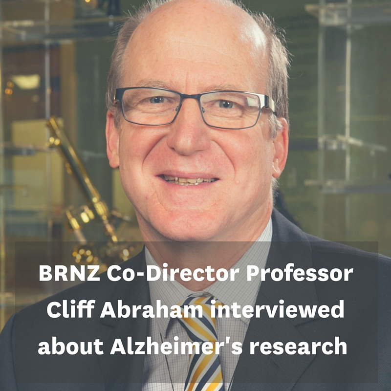BRNZ Co-Director Professor Cliff Abraham interviewed on TV about $5m Alzheimer's research grant