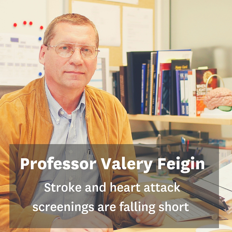 BRNZ member Valery Feigin on stroke and heart attack screenings falling short