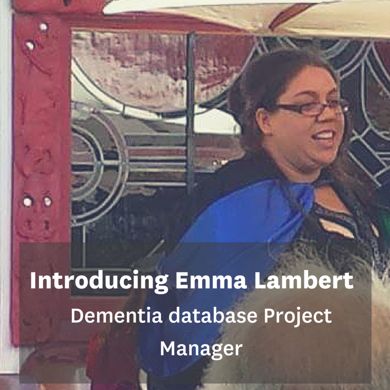 Emma Lambert, Project Manager BRNZ national dementia database