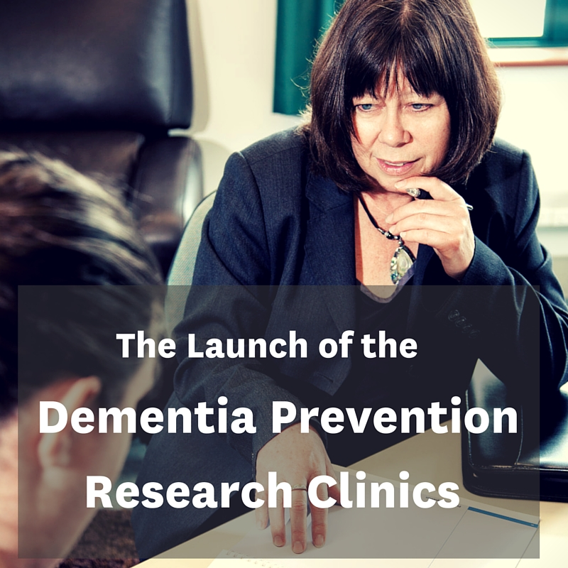 About the launch: The Dementia Prevention Research Clinics