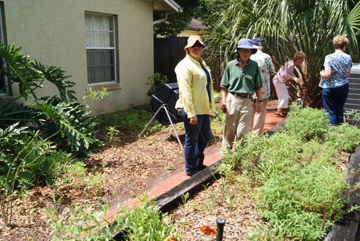 Amanda Martin assisted Bill Garmany with garden design