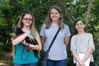 Kathryn, Rebecca and Julia St. John enjoyed the tour.