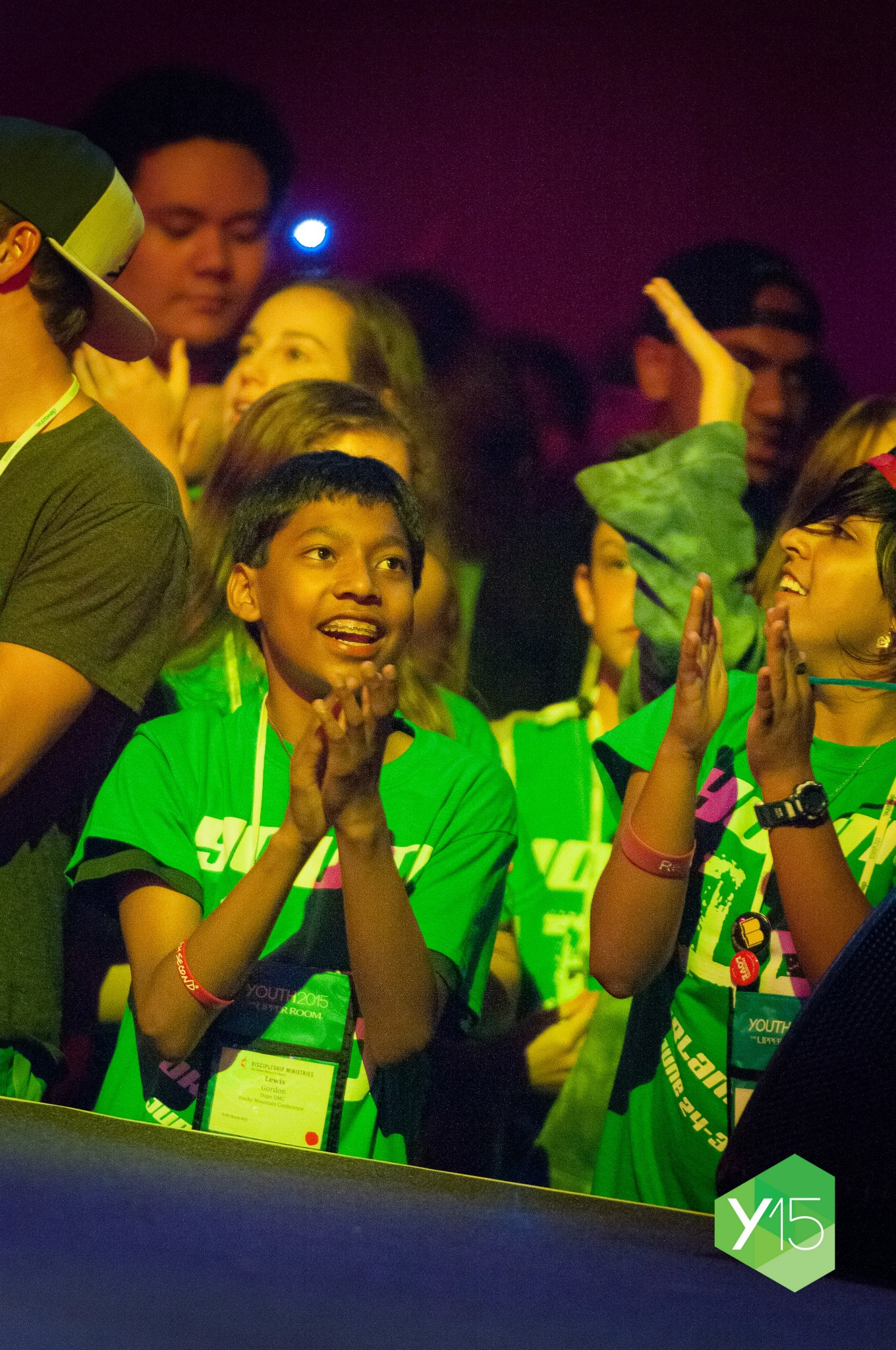 Youth enjoy a worship experience at YOUTH 2015