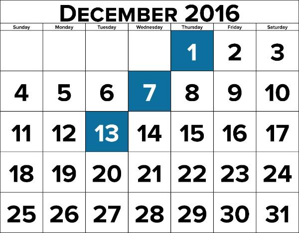 November Calendar