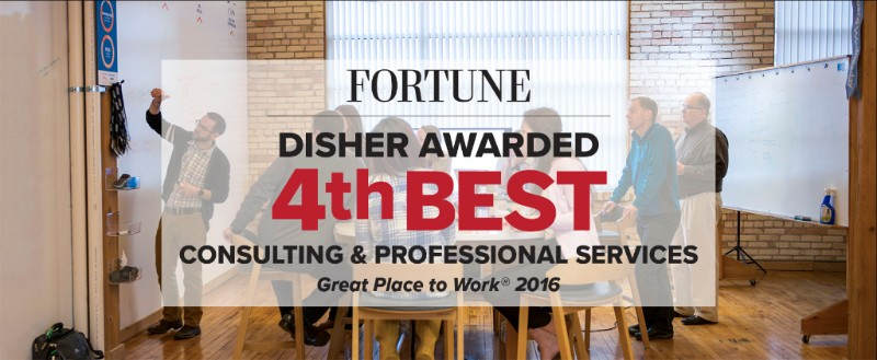Disher Named 4th Best Consulting & Professional Services Workplace in the U.S.