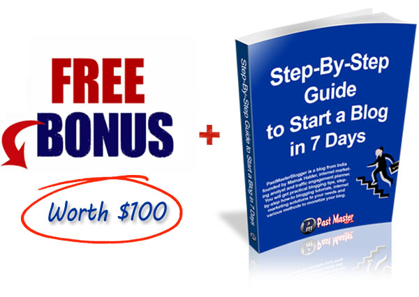 Free bonus plus step by step blog guide at PastMasterBlogger