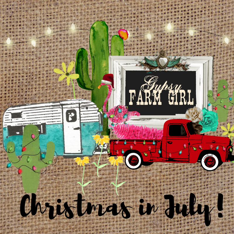 Gypsy Farm Girl Christmas in July Sale