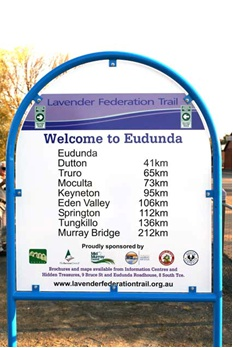 Eudunda Trailhead Sign