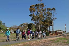 Walkers in Eudunda Railway section at Opening of Trail