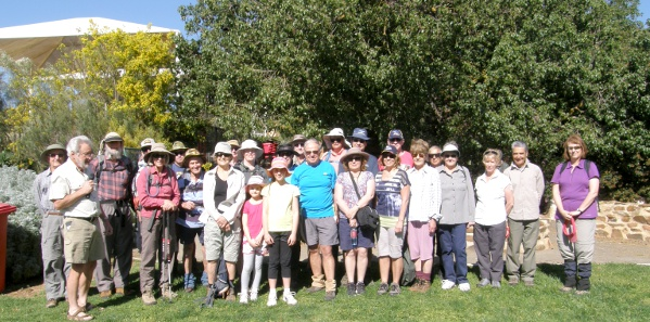 Walking Group readies at the Opening of Eudunda Section
