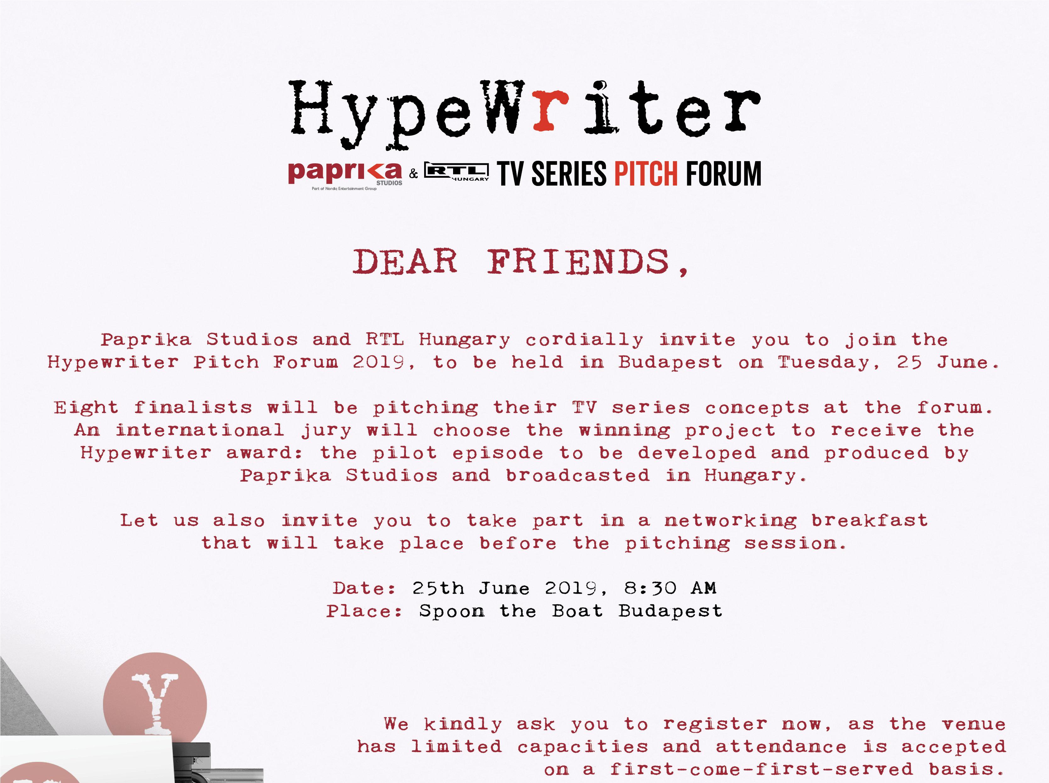 Hypewriter 2019 meghívó