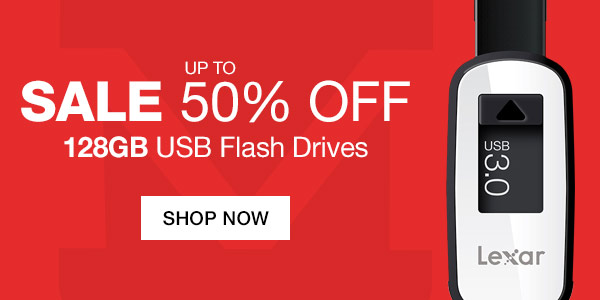 Up to 50% Off 128GB USB Flash Drives