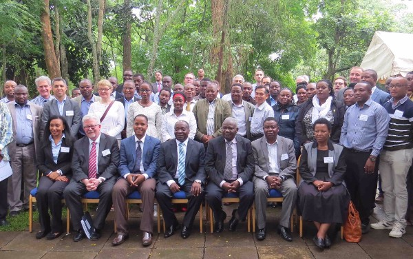 Day 1 leaders' forum attendees including the Minister for Water - Hon. Gen. Gerson Lwenge