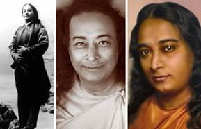 Paramhansa Yogananda triptych - Expanding Light Retreat- California