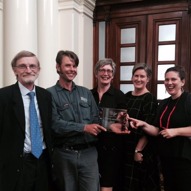 Heide wins the Volunteer Victoria's excellence award