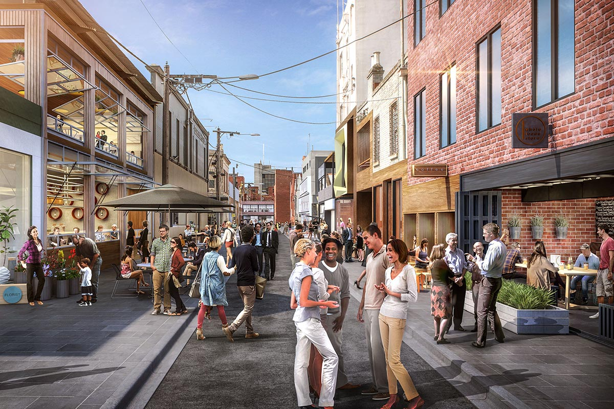 Concept image for the Laneways Project