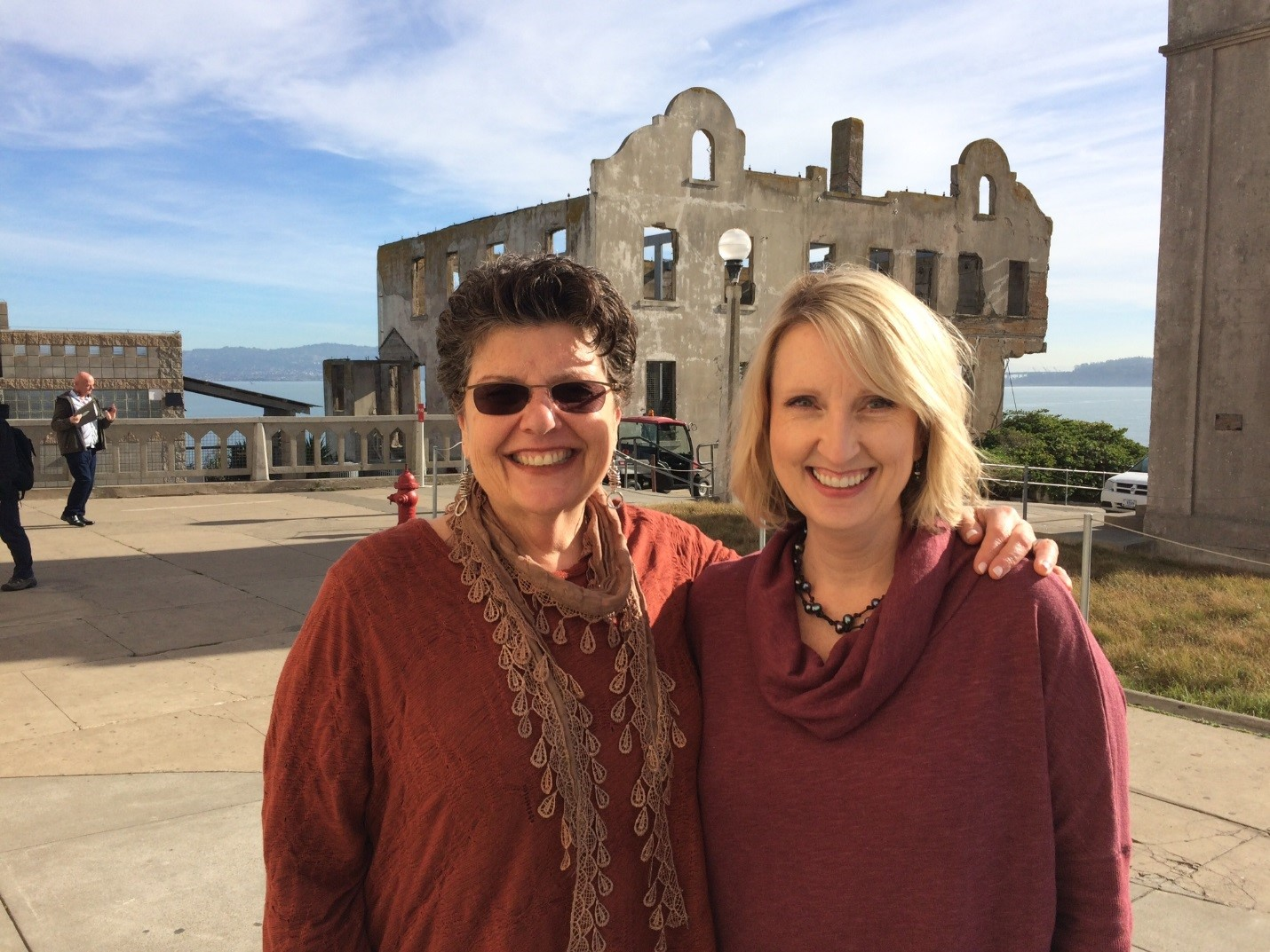 Dr. Joan Beasley (Director, Center for START Services) and Dr. Karen Weigle (Associate Director, Center for START Services) see the sights in San Francisco while attending the NADD Conference