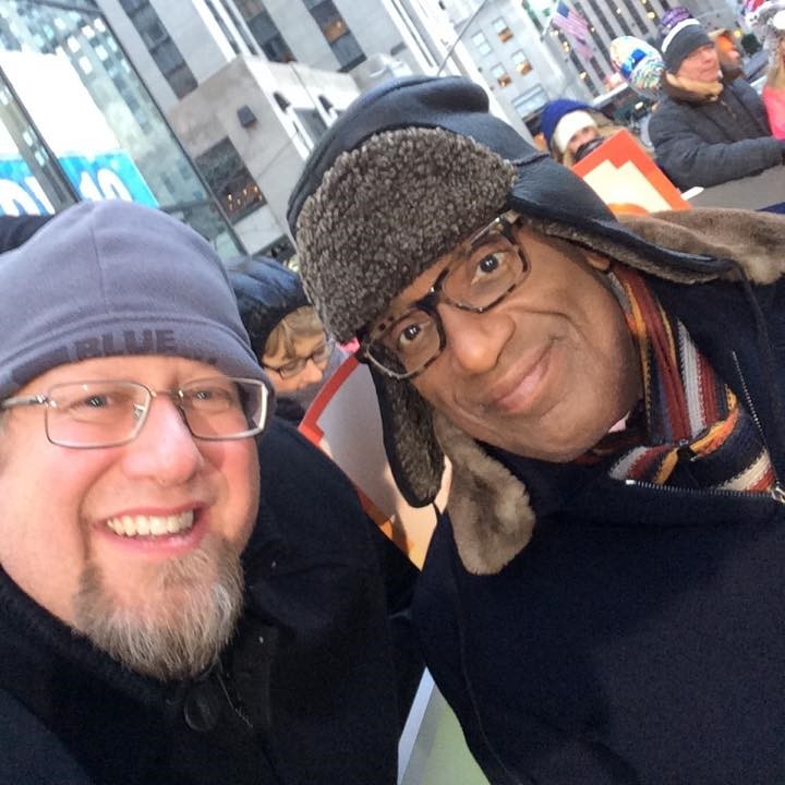 Dave O'Neal meets Al Roker on a recent visit to NYC