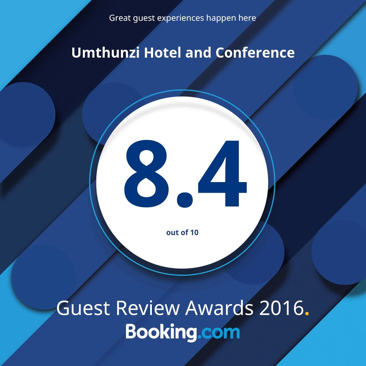umthunzi hotel and conference gust review awards 2016