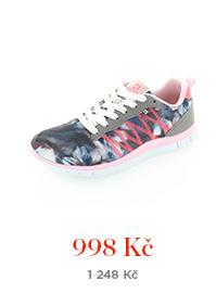 Šedo-růžové tenisky