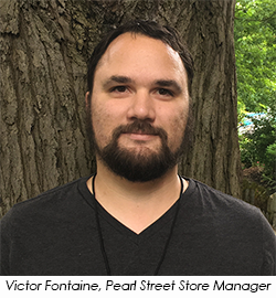 Victory Fontaine, new Pearl Street Store Manager