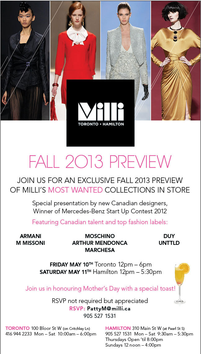 Milli Fall 2013 Preview