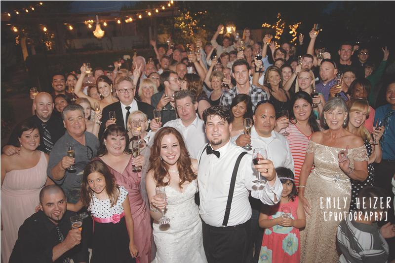 Sacramento Wedding DJ Group Shot Wedding Guests