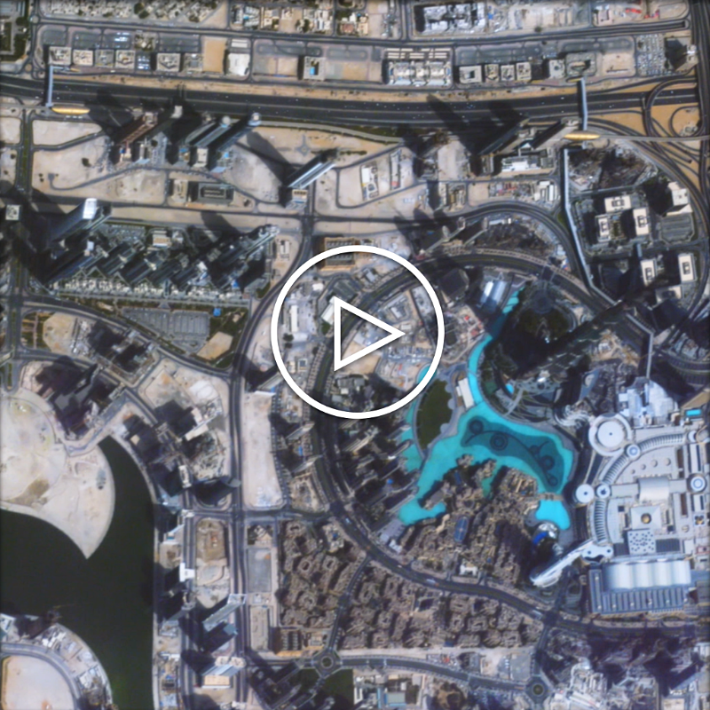 Zoom Over Dubai's Burj Building