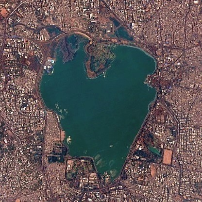 India's Heart-shaped Lake in Hyderabad