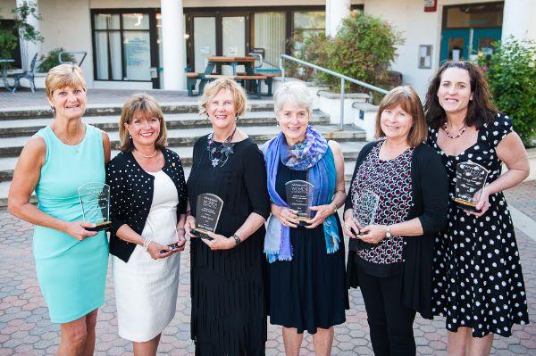 2016 WOD Award Honorees Cherie Michaelson, Anita Robinson, Libbie Agran, Ann Robinson, Lisa Fraser, Anna Bates