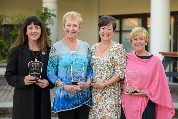 2017 WOD Awards Honorees Mila Vujovich-La Barre, Roxanne Carr, Nancy Walker, Shelly Higginbotham