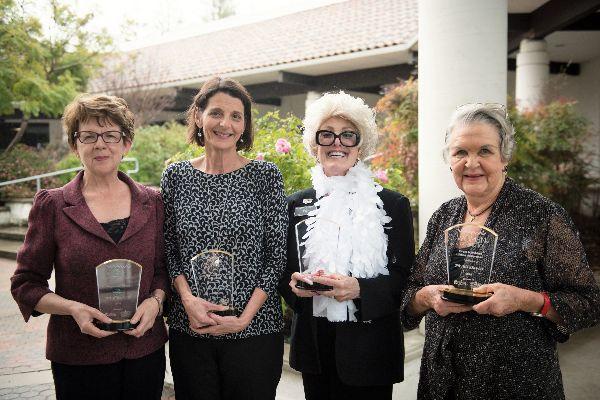 2018 WOD Award Honorees Betsy Umhofer, Grace McIntoch, Anita Shower, Phyllis Davies
