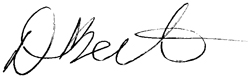 Signature of Donna Berta, Fitness director