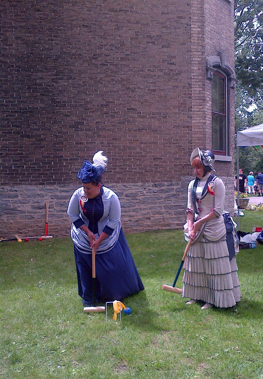 Members of the Kingston Heritage Ambassadors play croquet on the lawn at Glanmore.