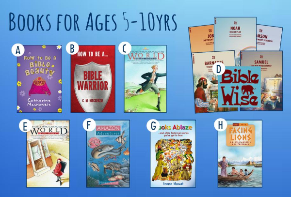 Books for Ages 5-10yrs