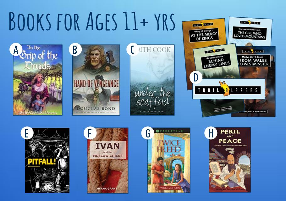 Books for Ages 11+ yrs