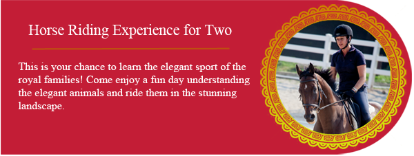Horse Riding Experience - This is your chance to learn the elegant sport of the royal families! Come enjoy a fun day understanding the elegant animals and ride them in the stunning landscape.
