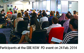 Participants at the EBE NSW PD event 24 February 2014