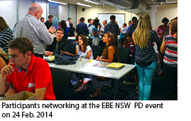 Participants network at the EBE NSW PD event 24 February 2014
