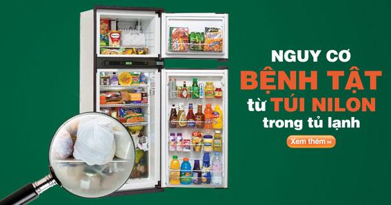 image-Đầy nguy cơ bệnh tật từ chiếc túi nilon trong tủ lạnh