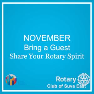 November - Bring a Guest