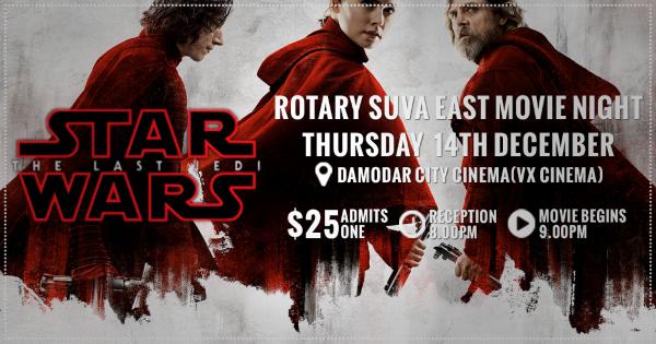[ Star Wars The Last Jedi $25 8PM Reception 9PM Movie ]