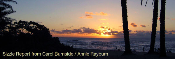 Sizzle Update from Carol Burnside / Annie Rayburn